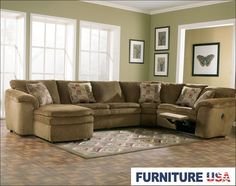 Rebel Mocha Left Arm Facing Corner Chaise 4pc Sectional With Sleeper By Ashley Furniture Sectional Living Roomssectional
