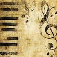 piano scrapbook paper