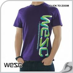 Wesc T-Shirt - WeSC Wesc 3D T-Shirt - Purple The introduction of WeSC to Surfdomes new range was very welcoming as they provide superb quality and stupendous style. This screen printed shirt is yet another boasted design from the street fashion  http://www.comparestoreprices.co.uk//wesc-t-shirt--wesc-wesc-3d-t-shirt--purple.asp