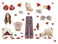 FALL by karenibarra on Polyvore featuring moda, Miss Selfridge, Wet Seal, Yves Saint Laurent, Versace, Lola Rose, Lucky Brand and Linda Farrow