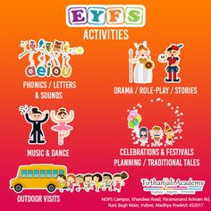 EYFS curriculum is full of activities, musical experiences, language learning & a healthy mix of indoor exploration & outdoor play to ensure holistic development of your kids. Eyfs Curriculum, Eyfs Activities, Traditional Tales, Letter Sounds, Outdoor Play, Phonics, Language, Indoor, Letters