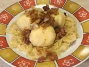 Mäsové guľky s kyslou kapustou - recept na mäsové guľky v zemiakovom ceste na  kyslej kapuste so slaninou.