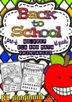 Back to School - No-Prep Printables Packet CCSS (Pre-Kinder/1st Grade)