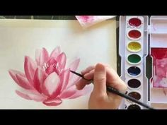 How to Paint Watercolor a Water Lilly - YouTube