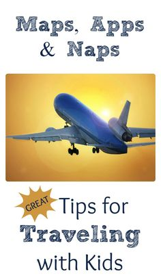 Great Tips for Traveling on Airplanes with Kids. How to prepare kids, what to bring, and what do on the flight.