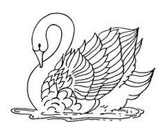 Dibujos y Plantillas para imprimir: Dibujos de Cisnes para imprimir Animales 10
