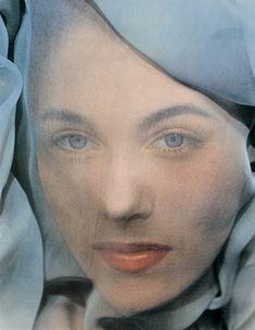 Blue Veil, New York, 1951 Photographer: Erwin Blumenfeld Model: Leslie Redgate