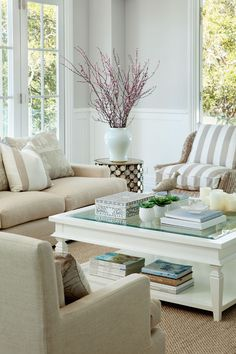Sophisticated styling in cool neutrals. Verandah House Interiors featured in Queensland Homes
