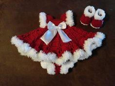Toddler baby infant girl dress Red off white stripe Christmas ...