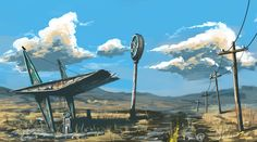 Old gas station by Fernand0FC on DeviantArt