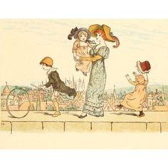 Marigold Garden 1900 On the wall-top 2 Canvas Art - Kate Greenaway (18 x 24)