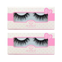"""KoKo Lashes """"Queen B,"""" $6.99. Australian makeup artist Jasmine Hand picked this out for her GoStore. You can ship worldwide at international delivery rates of up to 80% off when you shop with GoSend. #gosendgo #internationalshipping #kokolashesqueenb"""
