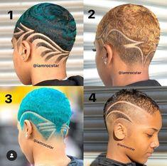 Natural Hair Short Cuts, Short Natural Haircuts, Tapered Natural Hair, Short Sassy Hair, Cute Short Haircuts, Short Hair Cuts, Natural Hair Styles, Modern Haircuts, Short Hair Designs