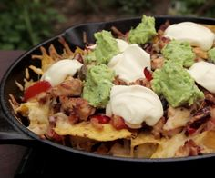 Nachos are on the tasty meal that can be thrown together quickly and using anything you find in your fridge.By cooking this on the BBQ, it'll give you a subtle. How To Cook Nachos, Weber Bbq Recipes, Chicken Nachos, Bbq Party, Tacos, Appetizers, Mexican, Yummy Food, Meals