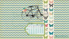 May 2012 desktop calendar by Pepper & Buttons