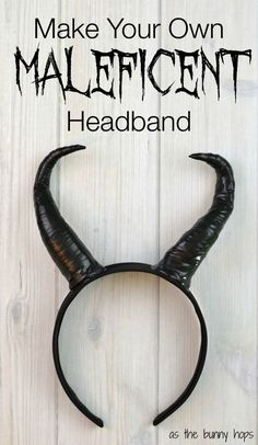 Make your own Maleficent headband in less than an hour with just a few easy to find supplies. You might have what you need already at home!