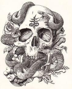 Skull and Snake on Behance