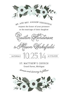 wedding invitations - Mellifluous by Sarah Brown