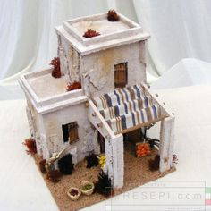 Minareto con bottega frutta Crafts To Do, Clay Crafts, Home Crafts, Nativity Creche, Diy Crib, Free To Use Images, Art Drawings For Kids, Miniature Houses, Easy Paintings