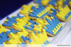 Royal crown cookies for a Little Prince party