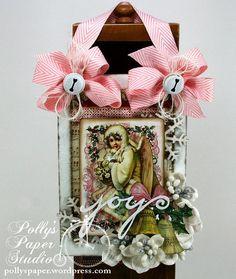 Sugar Plum Fairy Wall Hanging Christmas Shabby Chic by PollysPaper