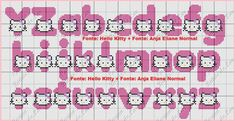 Artes e bordados da Sol: Monograma da Hello Kitty