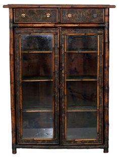 19th-C. English Bamboo Bookcase