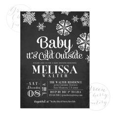 Winter Baby Shower Invitation  Snowflake  by GreenCherryFactory, $18.00
