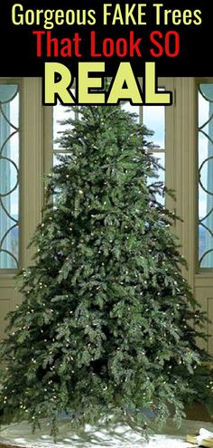 Fake Christmas Trees That Look Real! Best affordable artificial Christmas trees that look like REAL Christmas trees. If you want a realistic looking fake Christmas tree, you have GO to see these! Pre Lit Christmas Tree, Simple Christmas, Christmas Tree Decorations, White Christmas, Christmas Stuff, Christmas Recipes, Christmas 2019, Christmas Crafts, Noel