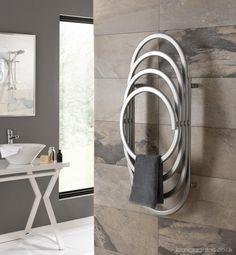 Our new EOS Designer Radiator, designed by  the brilliant Mario Talin www.iconicradiators.co.uk/collections/eos/ Towel Radiator, Designer Radiator, Towel Warmer, Towel Rail, Bathroom Shelves, Radiators, Bathroom Accessories, Industrial Design, Showroom