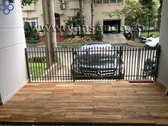 Mecerdes Benz và sàn gỗ ngoài trời :D