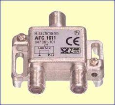 Met het AFC1611 enkelvoudig aftakelement kunt u een bestaande coaxkabel onderbreken en een aftakking naar een nieuwe antenne aansluitdoos maken. De verzwakking van de doorgaande kabel is minimaal, slechts 0,8 dB. De verzwakking naar het aftakpunt bedraagt 16 dB.  http://www.vego.nl/hirschmann/afc1611/afc1611.htm