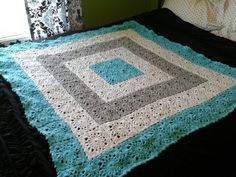 A crocheted throw I made for Anna!