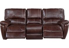 picture of Browning Bluff Brown Leather Power Reclining Sofa from Leather Sofas Furniture