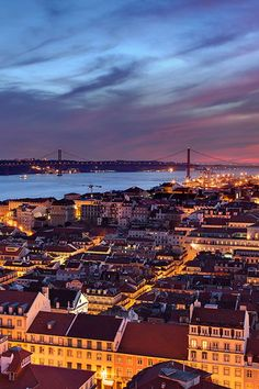 wonderous-world: Lisbon, Portugal by Joel Santos Shanghai, Portugal Travel Guide, Portuguese Culture, Villa, World View, Spain And Portugal, Most Beautiful Cities, Travel Deals, Travel Posters