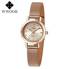 1495f90d5a4 WWOOR Women s Watch Ultra Thin Stainless Steel Quartz Watch Lady