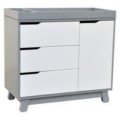 Babyletto Hudson Changer Dresser.  BabyLetto Hudson Changer Dresser in Two-tone Grey/White (Sold at Target)