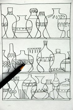 Thinking about something decorative, colorful and transparent we thought of Murano glassware, to do an exercise with the primary and secondary colours. We made a drawing with pencils and permanent …middle upper primary Primary And Secondary Colors, Arrow Art, 5th Grade Art, Drawing Exercises, Art Drawings For Kids, Cool Art Projects, Art Lessons Elementary, Middle School Art, Art Programs