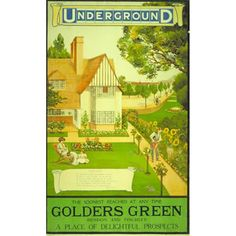 Golders Green - unknown artist (1908   London Transport Museum