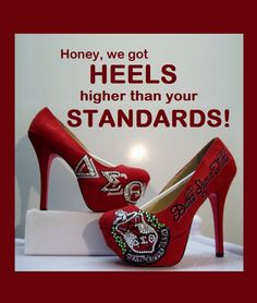 #Delta Sigma Theta #DST Platform Heels #platform heels I soooo thought about you when I saw these...GET IT T!!!  @Tawanna Green