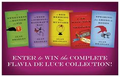 Enter to win the entire Flavia de Luce collection on Facebook!