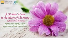 🌈 WELCOME! PRANIC HEALERS with Non Pranic Healers Enrichment Session, Meditation on Twin Hearts w/ MCKS healing & Master Faith's prayer for ONENESS ⏰ January 11, 2021 Monday (7:30 pm - 9:00 pm) 🌞 Enrichment Talk on: A Mother's Love is the Heart of the Home ❤️ by Bessie Mae M. Tronco Hosted by: Atty. Mai Guipo ✅ Join Zoom Meeting: phfp.ph/monday Meeting ID: 889 0225 5556 Passcode: pranic For inquiries: 09178527434 pranichealingphilippines@gmail.com