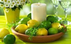 Image result for table decorations with fruits and vegetables