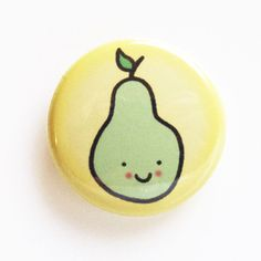 Tiny Pear Badge by sugarcookie on Etsy, $2.00