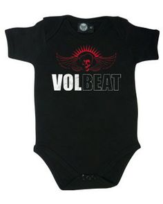 OMG this is so happening! Scarlett is gonna match mommy with her Volbeat onesie! Wow this made my so happy lmfao  Volbeat Baby Onesie Skullwing