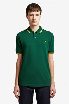 The twin tipped shirt was the first piece to carry our legendary tipping, and it remains at the core of everything we do. Celebrity Closets, Celebrity Style, Punk Shop, Fred Perry Polo Shirts, Twin Tips, Tennis Fashion, Nike Outfits, Donna Karan, Clothes For Sale