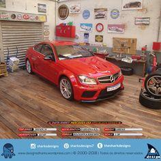 Olha quem encostou para calibrar os pneus e trocar o óleo...  Date-Sheet: Mercedes-Benz C63 AMG Black Series Coupè (2012) Cor: Red Top Speed: 300 Km/h Horsepower: 517 HP Acceleration: 0-100 Km/h in 4,2s Torque: 63,2 KGFM a 5000 RPM Weight: 1.560 Kg Scale: 1:18 Diorama oficina: 1:18 #c63amg #amg #mercedesmountain #mercedesc63 #mercedes #w204 #w211 #mb #mercedes #mercedesc63amg #designdeproduto #design #photography #still #colecionismo #scale_1_18 #leonidasdesigner #sharks #tubaraobranco… Mercedes C63 Amg, C 63 Amg, Diorama Ideas, 1, Colors, Miniatures