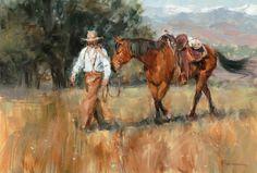 Lindsey Bittner Graham, Walk With Me, oil, 14 x 20.