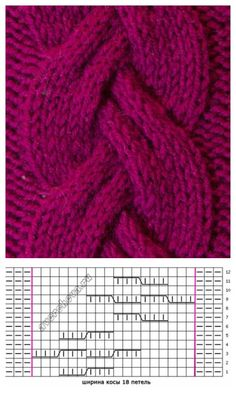 free cable knitting stitch pattern, chart only. Website is in Russian free cable knitting stitch pattern, chart only. Website is in Russian. cable knitting stitch pattern, chart only. Website is in Russian Cable Knitting Patterns, Knitting Stiches, Baby Hats Knitting, Knitting Charts, Lace Knitting, Knit Patterns, Crochet Stitches, Stitch Patterns, Cable Chart