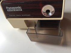 Vintage Panasonic Electric Pencil Sharpener w Auto-stop - Office Supplies KP-110